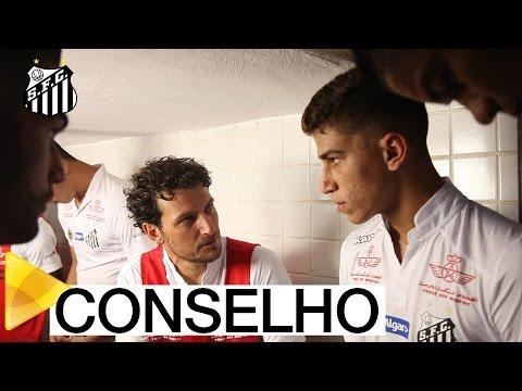 Elano conversa com Vitor Bueno antes da partida contra o São Bento