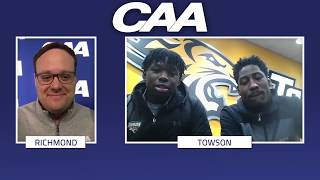 CAA On The Line | Towson Men's Basketball Brian Fobbs & Allen Betrand thumbnail