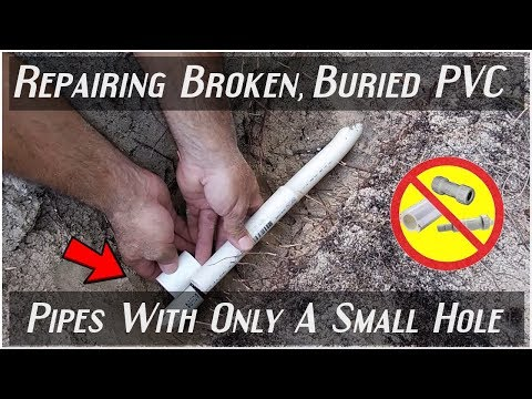 EASILY Repairing Broken PVC Pipes(Least Amount Of Digging)