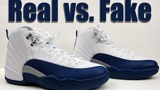 Real vs. Fake Air Jordan 12 French Blue 2016 Legit Check