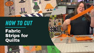 Embroidery Vlog: How t๐ cut perfect fabric strips for quilting