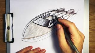 Sketching a Speed Boat: Using Arcs in Perspective