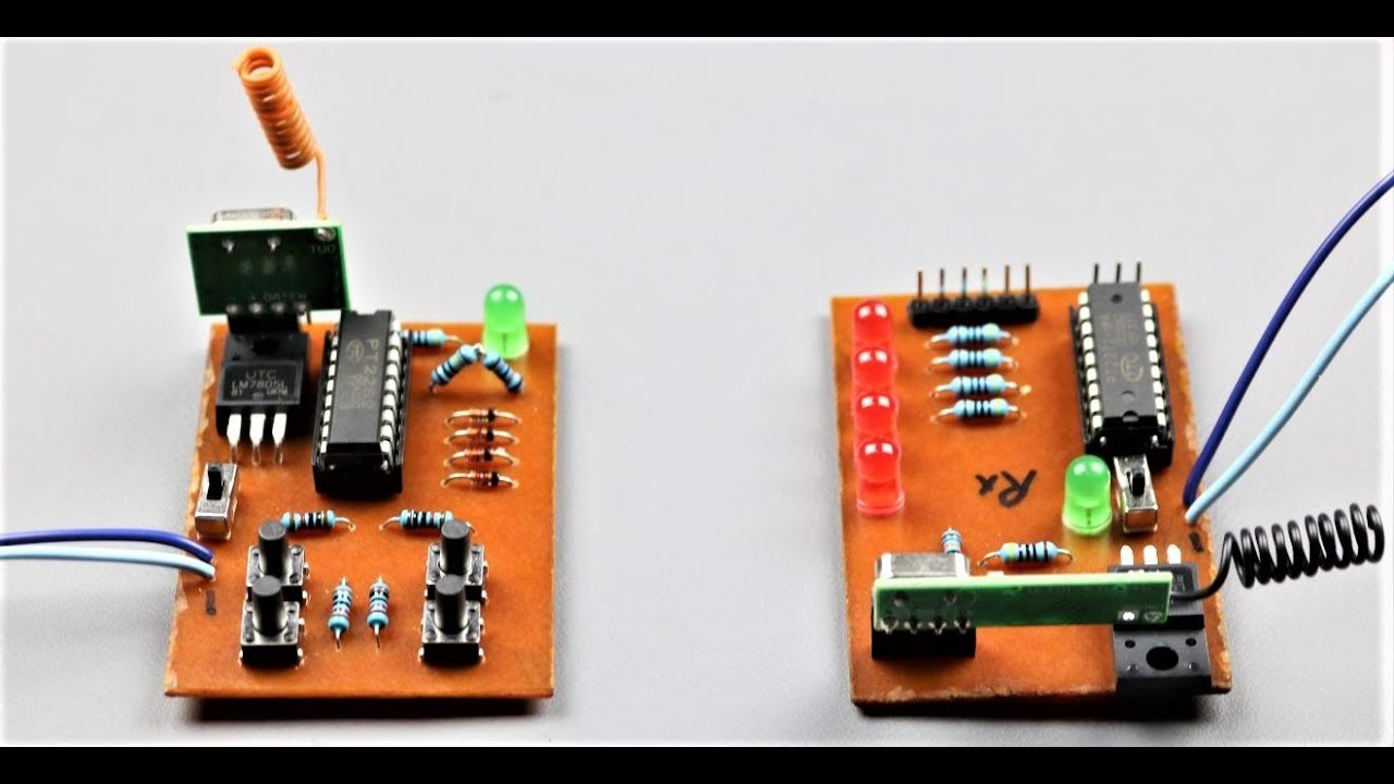how to make a wireless remote control circuit at home youtube