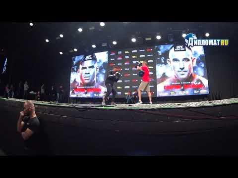 UFC Fight Night St Petersburg Open Workouts. Alistair Overeem