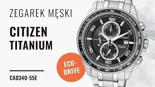 Zegarek Citizen Eco-Drive Titanium CA0340-55E | Zegarownia.pl
