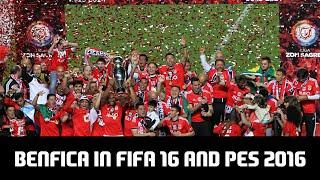BENFICA IN FIFA 16 AND PES 2016! (2015/2016 PREMEIRA LIGA CHAMPIONS) (Face Comparison)