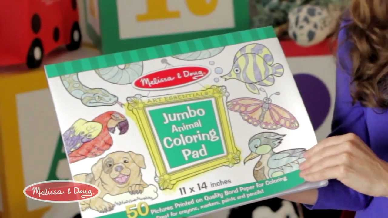 Jumbo Coloring Pad by Melissa and Doug
