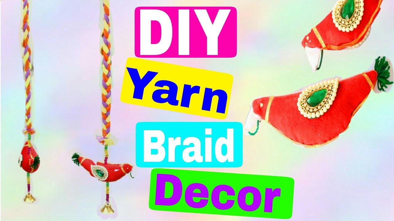 Decorative Wall Hangings diy yarn braid home decoration   wall hangings   style small world