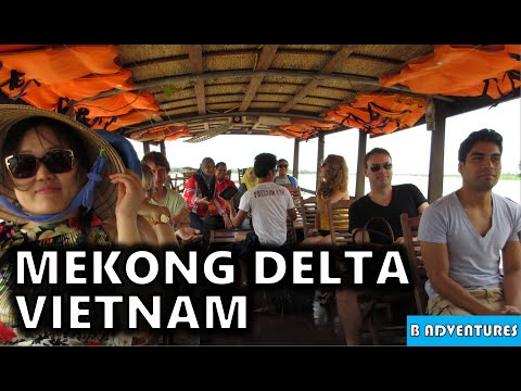 Mekong Delta Floating Markets, Rice Candy, Snake Wine, Vietnam Travel Vlog Ep6