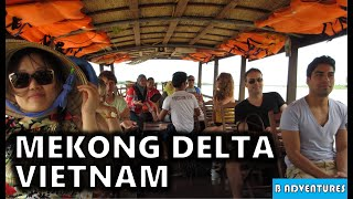 Mekong Delta Floating Markets, Rice Candy, Snake Wine, Arts & Crafts, Travel Vietnam Ep6