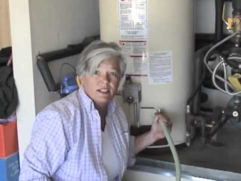 how to change anode in a gsw water heater