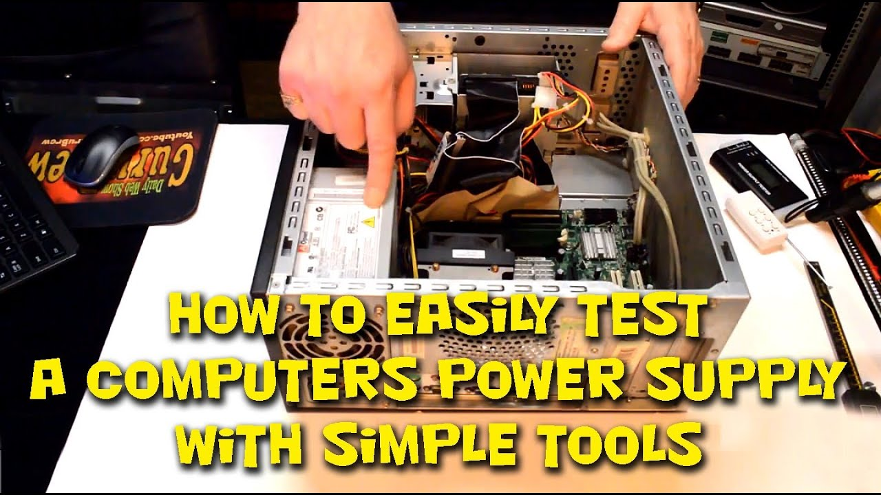 How to Easily Test a Computers Power Supply with Simple Tools - YouTube
