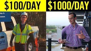 Earning $100 vs $1,000 A Day At 23! (Employee vs Entrepreneur)