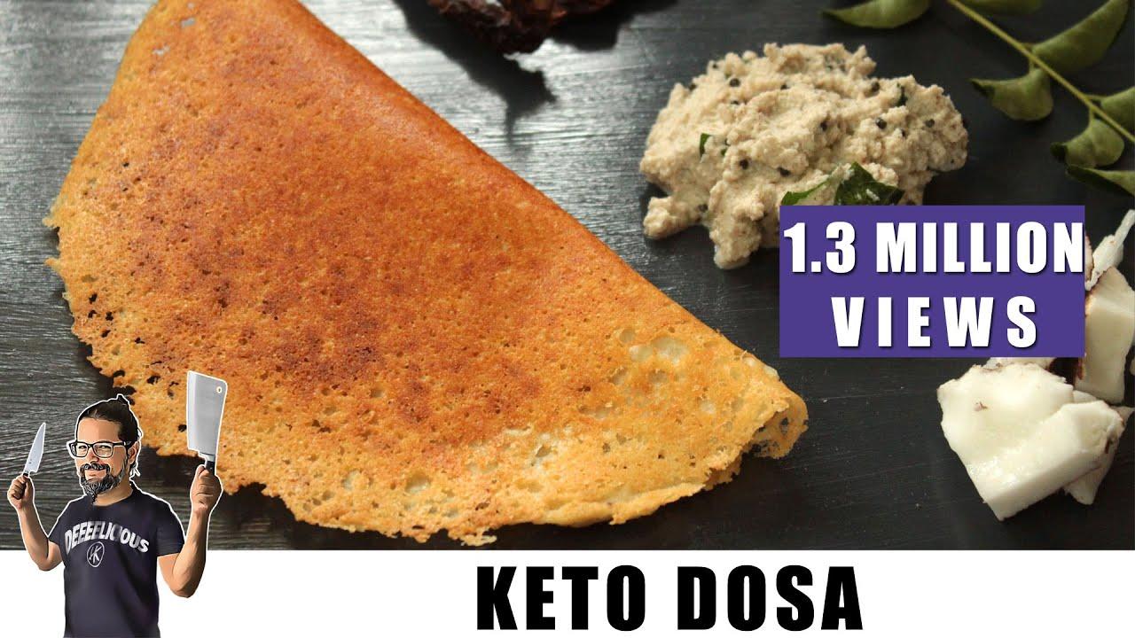 Keto Dosa (Crispy Keto Crepe) | Keto Recipes | Headbanger's Kitchen