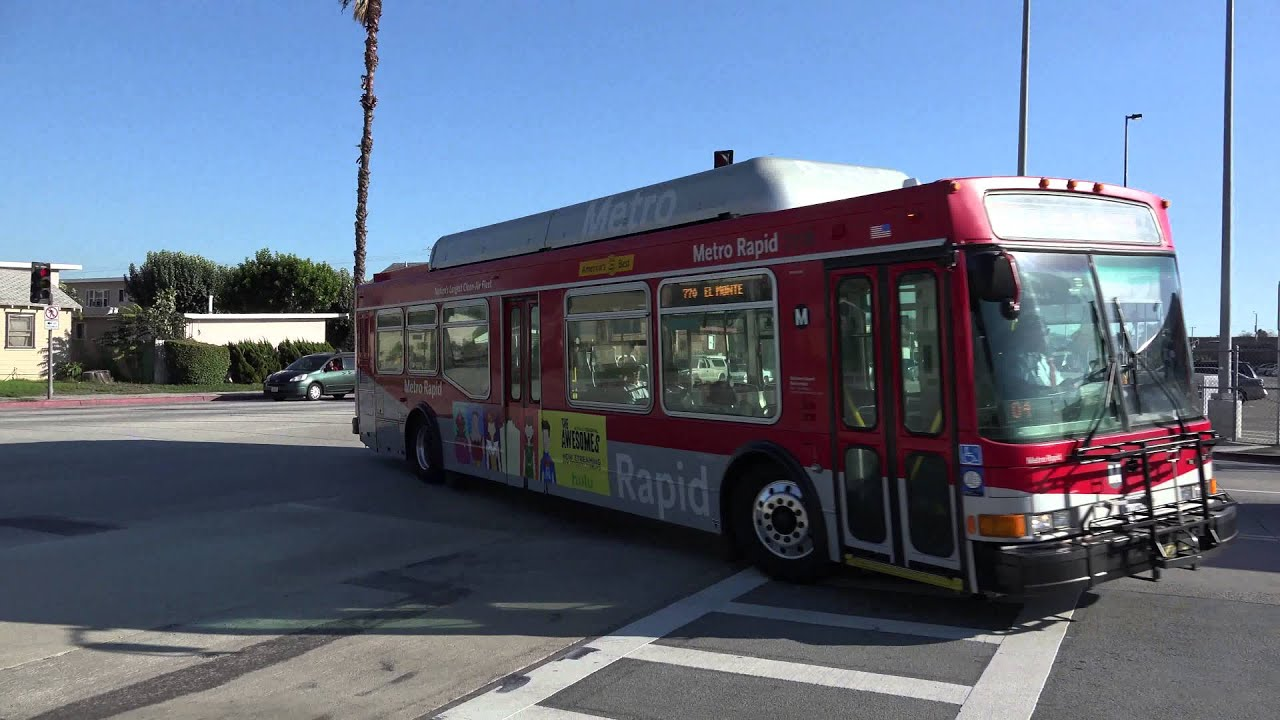 LACMTA NABI 40LFW BUS 7935 ON THE 770 ARRIVING TO EL MONTE STATION - YouTube
