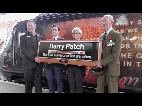 "A VSO!!! GWR 43172 is named ""Harry Patch"" at Bristol Temple Meads"