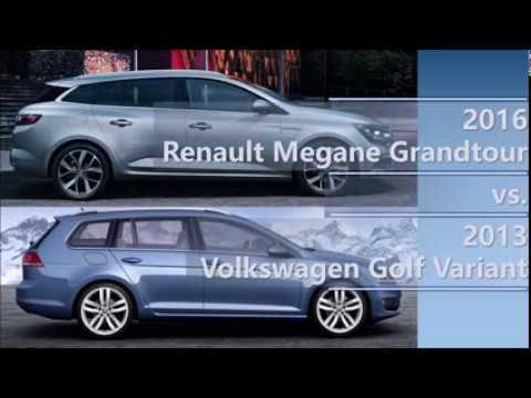 2017 Renault Megane Grandtour Vs Volkswagen Golf Variant Comparison