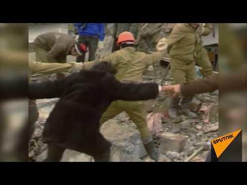 Разрушительное землетрясение в Спитаке в 1988 году. Архивные кадры