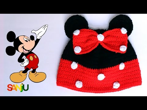 Crochet Mickey Mouse Cap for kids