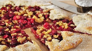 Cranberry Galette Recipe Demonstration - Joyofbaking.com