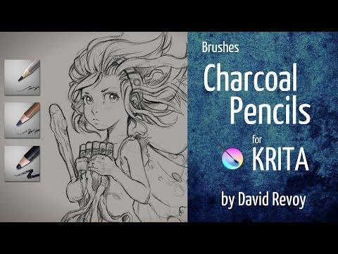 Krita brushes: Charcoal pencils