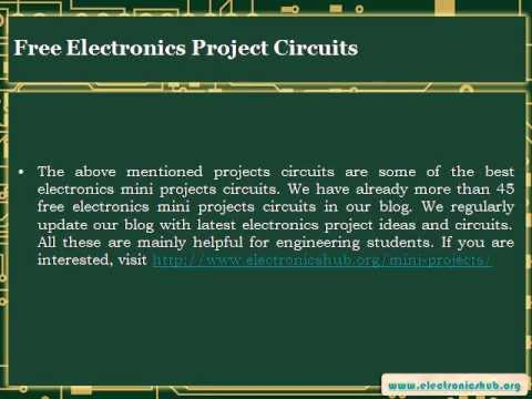 Free Electronics Mini Projects Circuits for Engineering Students ...
