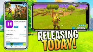 FORTNITE BATTLE ROYALE Mobile Trailer (iOS) iPhone X Gameplay HD