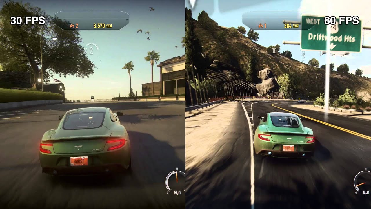 Need for Speed: Rivals | PC Cheat | 30 Fps versus 60 Fps - YouTube
