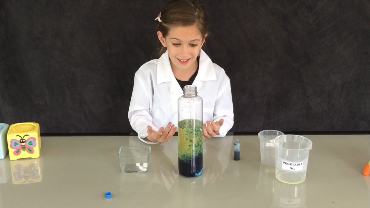 Logan The Science Kid   Lava Lamps   Kid Safe Science Experiments