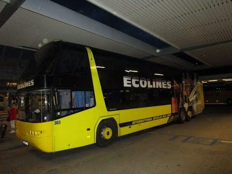 Автобусы фирмы ECOLINES. Наша поездка в Россию.