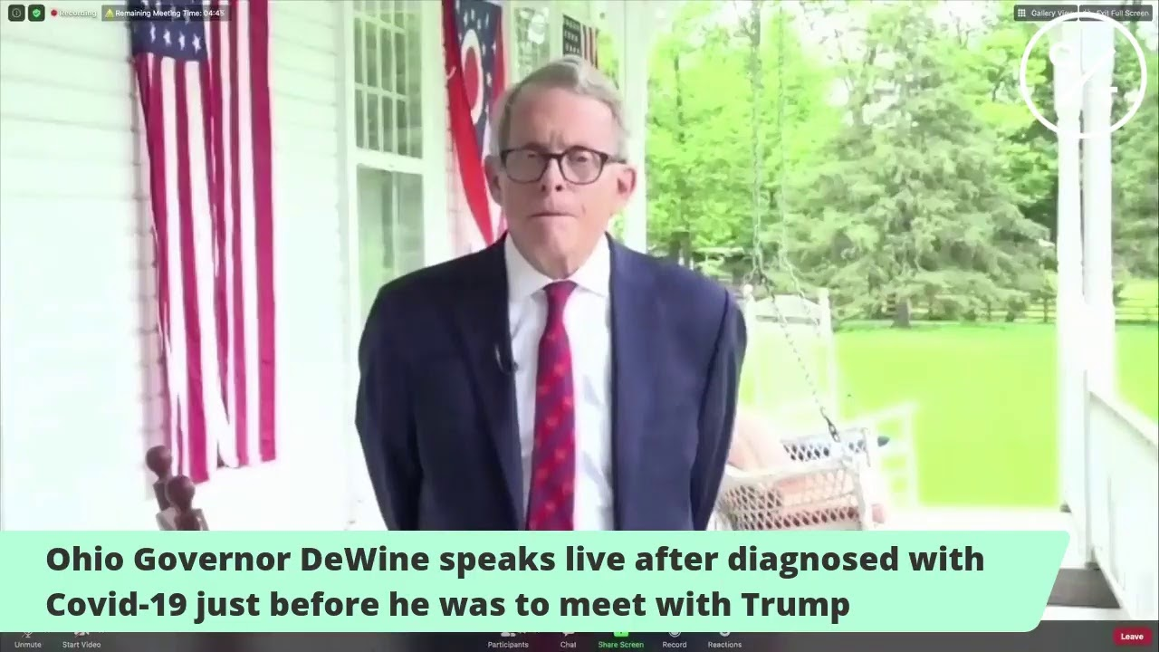 Ohio Gov. Mike DeWine tests positive for virus ahead of Trump visit