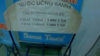 Вода 0.5л=9 руб;1,5л=15 руб.Нячанг Вьетнам 2016