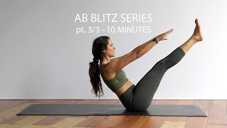 AB WORKOUT SERIES PT.3/3 | AB WORKOUT AT HOME | 10 MINUTES | CORE STRENGTH EXERCISES | FLAT TUMMY