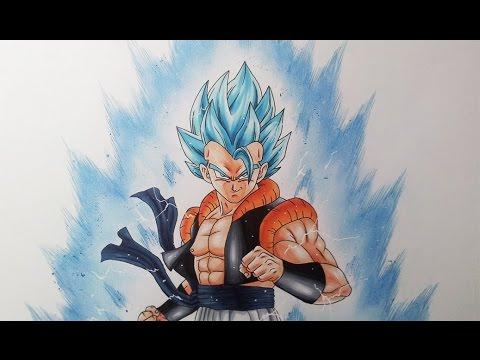 Drawing Gogeta Super Saiyan Blue Youtube