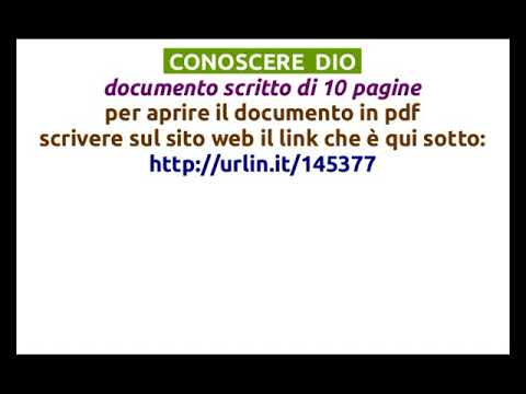 (1) CONOSCERE  DIO