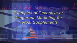 GAO: Selected Examples of Deceptive or Dangerous Marketing for Herbal Supplements