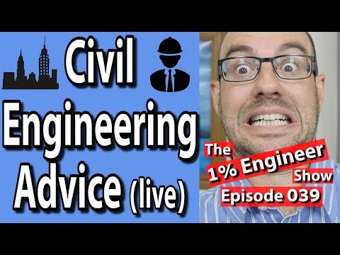 🔴Civil Engineering Student Advice | The #1%Engineer Show 039 | Live with AF Math & Engineering