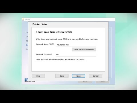 Epson Expression Home XP-340 | Wireless Setup Using the Control Panel