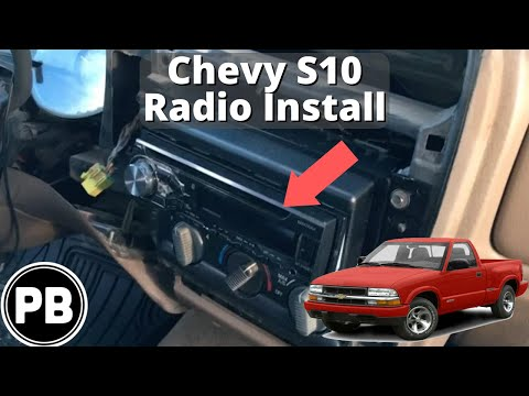 1998 - 2004 chevy s10 blazer jimmy sonoma radio install pioneer dxh-x4869bt  - youtube