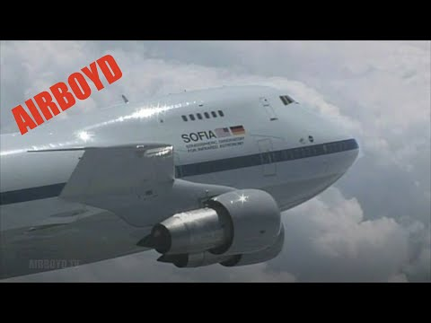 NASA Boeing 747SP N747NA Montage Video Footage