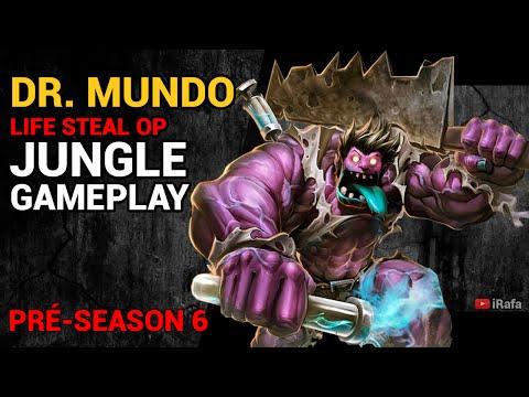 League of Legends - Dr. Mundo Jungle (Pré-Season 6) 1000% Life-Steal - iRafaLoL