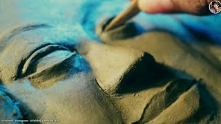 Relief Sculpture // How To Make Relief Sculpture / Relief Sculpture in Clay / portrait #relief #Art