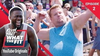 Download Muscle Beach With James Corden | Kevin Hart: What The Fit Episode 2 | Laugh Out Loud Network Mp3 and Videos