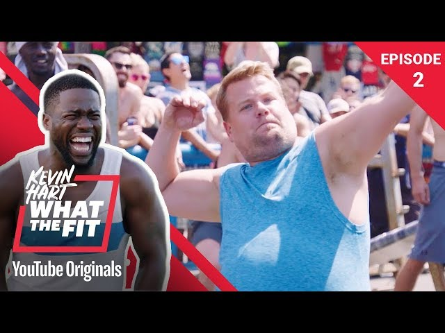 Kevin Hart VS James Corden at Muscle Beach: What The Fit Episode 2