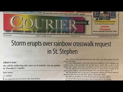 St  Stephen Town Council Meeting-Rainbow Crosswalk proposal portion