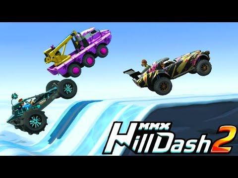 Чего новенького в MMX HILL DASH 2 Необычные машины монстры Видео для детей игра про машинки