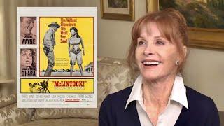 """McLintock!"" Stefanie Powers' John Wayne memories, difficult horses & Gene Autry! A WORD ON WESTERNS"