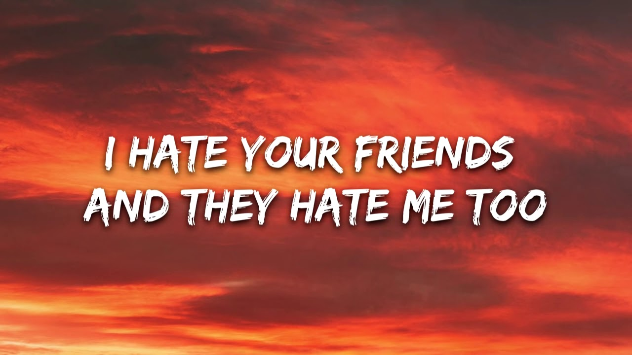 i hate your friends and they hate me too lyrics