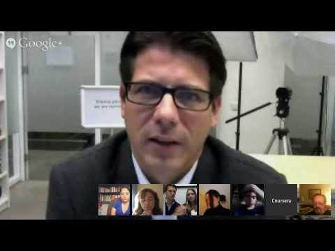 Coursera Google Hangout with prof. Edwin Bakker