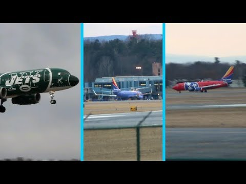 Three rare liverys at Albany (Tennessee, triple crown, and NY jets)